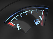 Gas gage with the needle indicating a full tank. Fuel concept Stock Photos