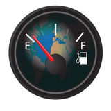 Gas gauge Royalty Free Stock Photos