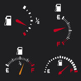 Gas gauge Stock Image