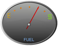 Gas Gauge Royalty Free Stock Photo