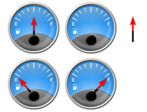 Gas Gauge Royalty Free Stock Photography