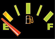 Gas gauge auto Royalty Free Stock Image