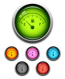 Gas gauge button icon Stock Images