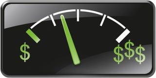 Gas Gauge Dollars stock images