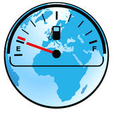 Gas gauge world Stock Images