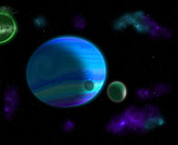 Gas Giant Planet Stock Images