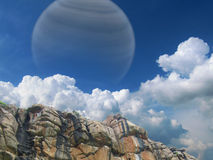 Gas giant in the sky Royalty Free Stock Image