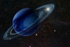 The gas giant in space stock illustration