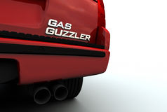 Gas Guzzler Emblem on SUV Royalty Free Stock Images