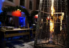 Gas heater for patio. Photo of Gas heater for patio stock photos