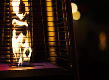 Gas heater for patio Royalty Free Stock Photo
