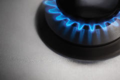 Gas hob cooker. Stainless Steel Gas hob cooker stock photo