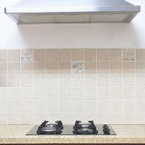 Gas Hob modern kitchen Stock Photos