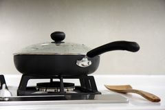 Gas Hob and A Saucepan Stock Photos