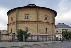 Gas Holders at the 2nd gas factory, Riga. Gas storages at the end of the 19th century in the early 20th century. Now - warehouses Royalty Free Stock Photography