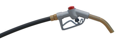 Gas hose nozzle. Front view. Isolated Royalty Free Stock Photo