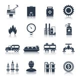 Gas Icons Black Stock Photos