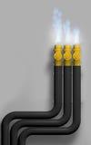 Gas im Feuer Stockfotografie
