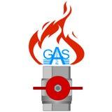 Gas industry-3 dell'icona Immagini Stock