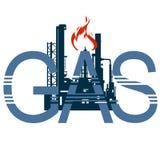Gas industry-4 dell'icona Immagini Stock