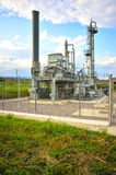 Gas industry. Distribution station point Royalty Free Stock Images