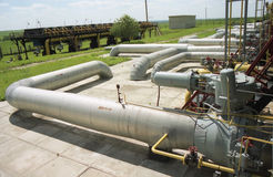 Gas industry, gas-extraction Stock Image