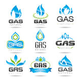Gas industry symbols. Natural gas can be used in areas such as the design of ready-made icons Royalty Free Stock Photography