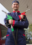 Gas Jockey Refilling Car Stock Photos