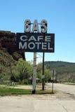 Gas - kafé - hotell Arkivbilder