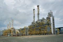 Gas-kemikalie komplex på polypropyleneproduktion Fotografering för Bildbyråer