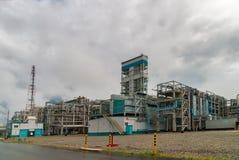 Gas-kemikalie komplex på polypropyleneproduktion Royaltyfria Foton