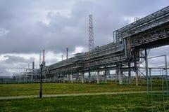 Gas-kemikalie komplex på polypropyleneproduktion Royaltyfria Bilder