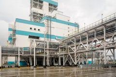Gas-kemikalie seminarium på polypropyleneproduktion Arkivbild