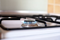 Gas kitchen stove Stock Photo