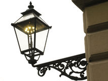 Gas lamp. Old classic ancient metallic gas street lantern Royalty Free Stock Photo