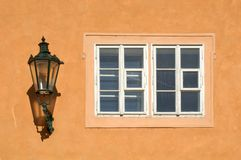 Gas-lamp and window Royalty Free Stock Photography