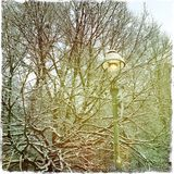 Gas lamp in Winter Royalty Free Stock Images