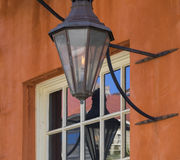 Gas lantern on old building. Royalty Free Stock Photos