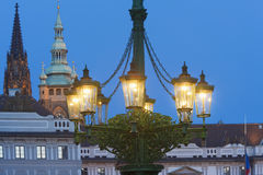 Gas lantern prague Royalty Free Stock Photos