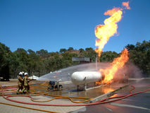 Gas Leak Fire Royalty Free Stock Photos