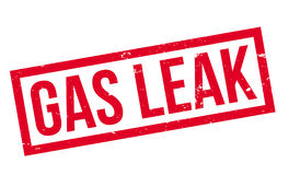 Gas Leak rubber stamp Stock Image