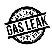 Gas Leak rubber stamp Stock Photography