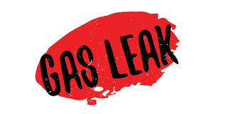 Gas Leak rubber stamp Royalty Free Stock Image