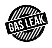 Gas Leak rubber stamp Stock Images