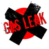 Gas Leak rubber stamp. Grunge design with dust scratches. Effects can be easily removed for a clean, crisp look. Color is easily changed Stock Photo