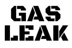 Gas Leak stamp typographic stamp. Gas Leak stamp. Typographic sign, stamp or logo Stock Images