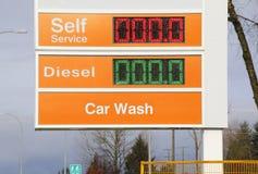 Gas libre, combustible barato Fotos de archivo