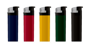 Gas lighters. Royalty Free Stock Photo