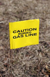 Gas Line. Warning Flag Royalty Free Stock Photo