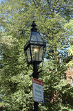 Gas-lit Lamppost 2 and sign royalty free stock photo